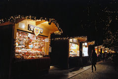快活的12月市场 库存图片