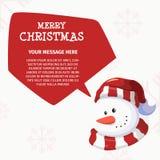 快活的Chistmas和新年快乐雪人头设计 免版税库存照片