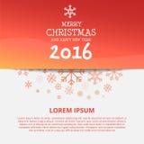 快活的Chistmas和新年快乐2016设计 库存图片