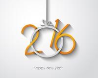 2016快活的Chrstmas和新年快乐背景 库存例证