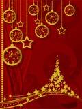 快活背景的圣诞节 免版税图库摄影