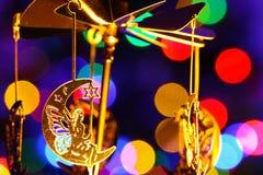 快活Chrismass的装饰四处走动月亮的神仙 免版税库存图片