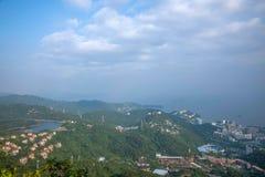 忽略在线10月1日骑士谷生态公园的Meisha 10月东部深圳密林缆车驻地 免版税库存照片