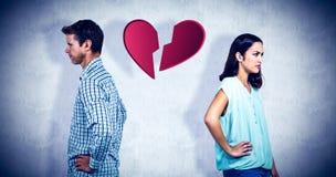 忽略的沮丧的夫妇的综合图象 免版税库存照片