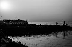 怀乡土耳其渔和夏天镇 图库摄影