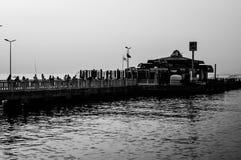 怀乡土耳其渔和夏天镇 免版税库存图片