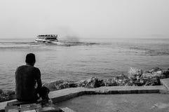 怀乡土耳其渔和夏天镇 库存照片