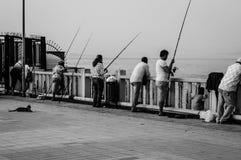 怀乡土耳其渔和夏天镇 免版税库存照片