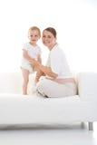 怀孕儿童的母亲 图库摄影