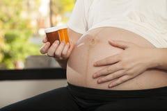 怀孕关心 免版税库存图片
