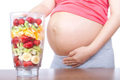 怀孕和营养 免版税库存照片