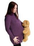 怀孕女孩的纵向 库存图片