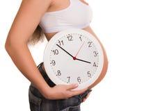 怀孕时间 免版税库存照片
