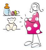 怀孕滑稽的母亲 免版税库存图片