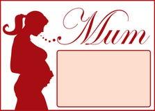 怀孕的剪影 库存图片