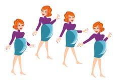 怀孕的向量妇女 图库摄影
