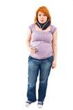 怀孕的听诊器妇女 库存照片