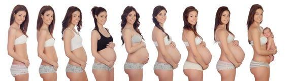 怀孕的回忆录 免版税库存照片