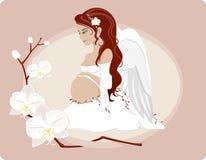 怀孕的天使 免版税库存照片
