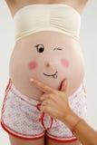 怀孕的夫人 免版税库存照片