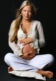怀孕的夫人 库存照片