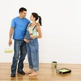 怀孕的夫妇 免版税库存照片