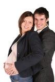 怀孕的夫妇 免版税库存图片