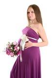 怀孕的女孩o 免版税图库摄影