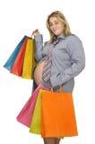 怀孕的女实业家 库存照片