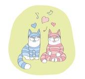 怀孕的猫的和爱 免版税库存图片