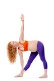 怀孕的瑜伽 图库摄影