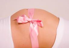 怀孕的礼品 免版税图库摄影
