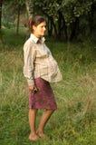 怀孕的秀丽 库存图片