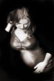 怀孕的秀丽 库存照片