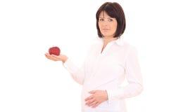 怀孕的饮食 库存图片