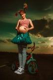 怀孕的Pippi Longstocking 免版税库存照片