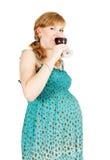 怀孕红葡萄酒 库存图片