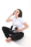 怀孕,音乐 免版税库存图片