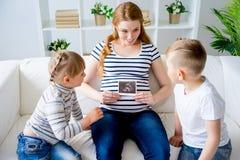 怀孕系列的母亲 免版税库存图片