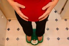 怀孕-孕妇医疗保健 库存照片