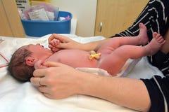 怀孕-新出生的婴孩 免版税库存照片
