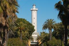 怀有圣Benedetto del Tronto海Adriatrico灯塔  库存照片
