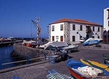 怀有, Puerto de la Cruz, Tenerife。 库存照片