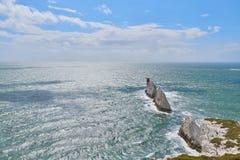怀特岛郡,针观看到海 免版税库存照片
