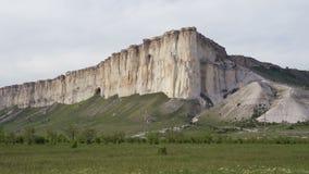 怀特罗克或Belaya斯卡拉,岩石Aq Kaya,克里米亚美好的风景  股票录像