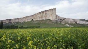 怀特罗克或Belaya斯卡拉,岩石Aq Kaya,克里米亚美好的风景  影视素材