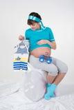 怀胎 库存图片
