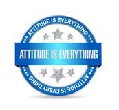 态度是一切封印标志概念 向量例证