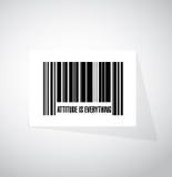 态度是一切条形码标志概念 库存照片