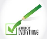态度是一切校验标志标志概念 向量例证
